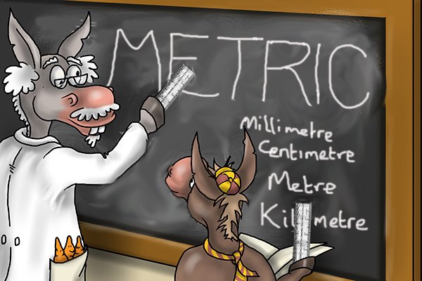 The metric system is the official measuring system of most countries, it is used all over the world