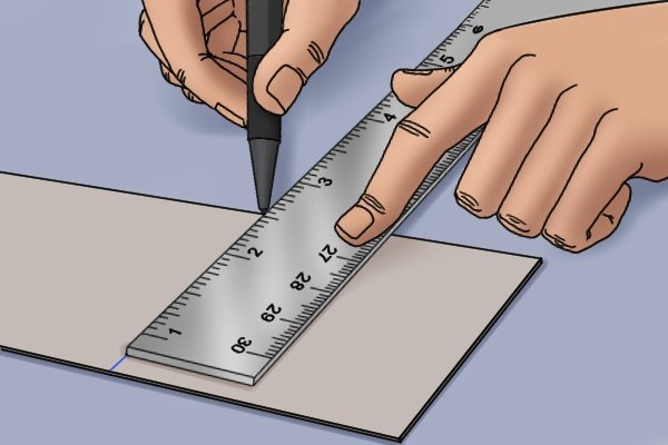 use a ruler to draw straight lines. Some rules are called straightedges