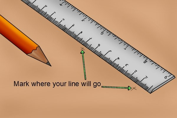 You might want to mark where you want the straight line to go before you draw it