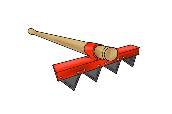 One type of rake is a fire rake, used for wildfire in wildland, it can help to stop fires spreading