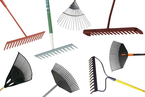 Rakes come in many different designs for different jobs