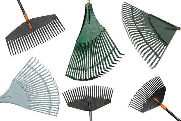 Leaf rakes are especially designed to make raking leaves easier