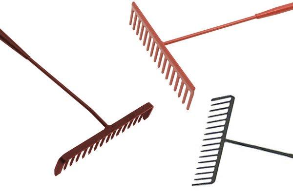 Tarmac rakes can level tarmac and gravel