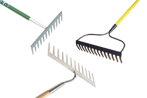 Garden rakes should be strong and sturdy, they will have heads made from steel
