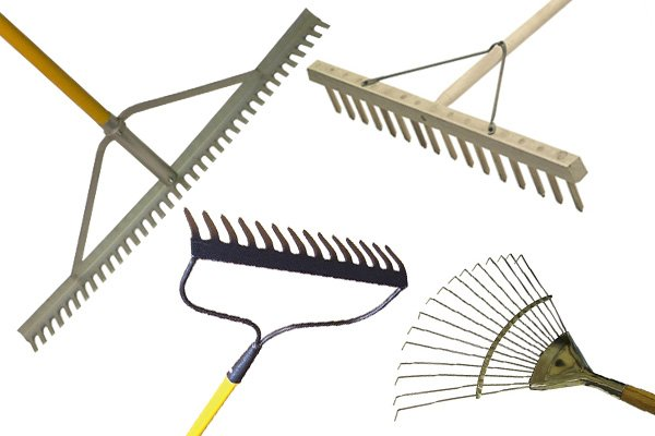 Rakes come in various designs and are made from different materials