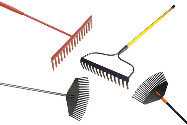 The tines, or teeth or rakes are made from different materials