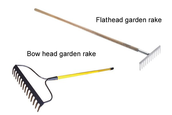 garden rakes. Garden Rakes Come In Two Styles: Flathead (sometimes Called Level Head) Or Bow