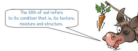"Wonkee Donkee says ""The tilth of soil refers to its condition: that is, its texture, moisture and structure of soil"""
