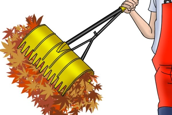 Some rakes are designed to grab or scoop up piles of leaves