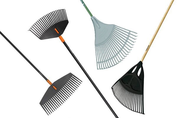 Leaf rakes are designed to be used with leaves, they are light so are not suitable for heavy duty gardening tasks