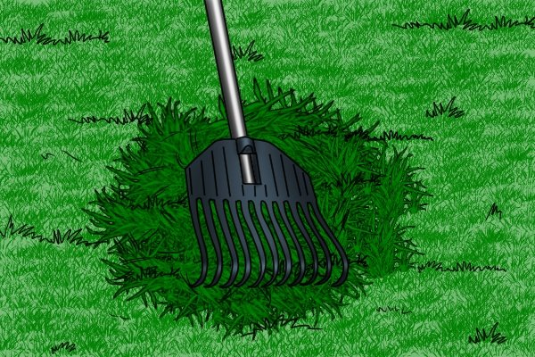 Leaf rakes can gather leaves or grass clipping but are not usually suitable for moving anything else