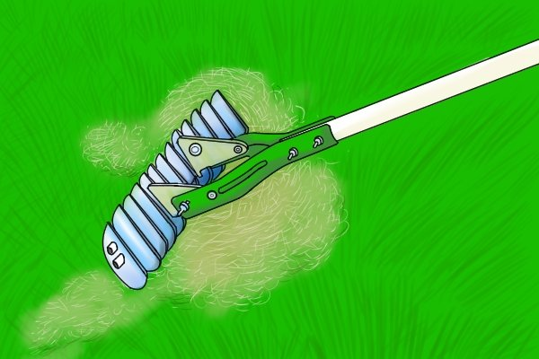 Thatch rakes are sometimes called scarifying rakes. They are designed to cut up and remove thatch and moss