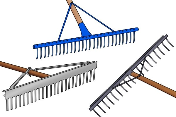 landscape rakes will have wide heads so they can cover large areas easily