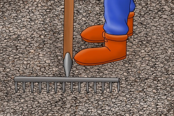 Landscape rakes are designed to be able to move heavy ground coverings, such as gravel