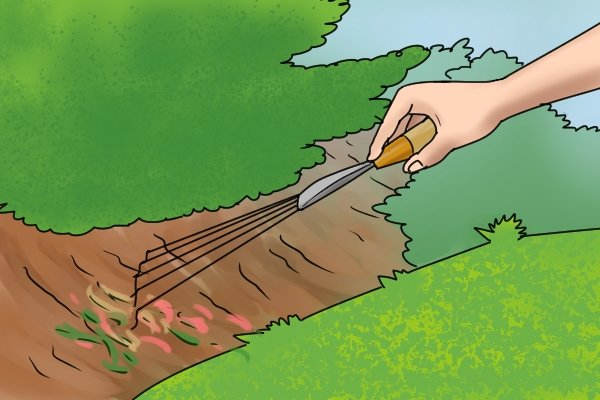 Hand rakes can be used in small spaces in garden and plant beds