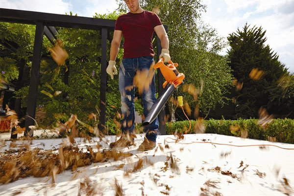 Leaf blowers can be used to gather piles of leaves, they may be more expensive but quicker than raking leaves