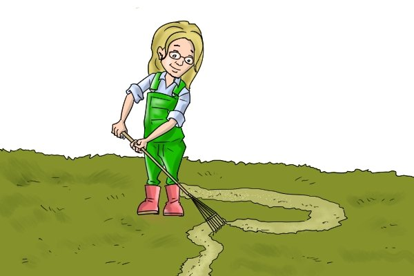 Scarifying a lawn remove unwanted thatch and moss. You can use a rake to scarify a lanw