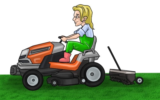 You can get scarifying attachments for tractors or ride-on lawnmowers, these can rake over large areas at a time
