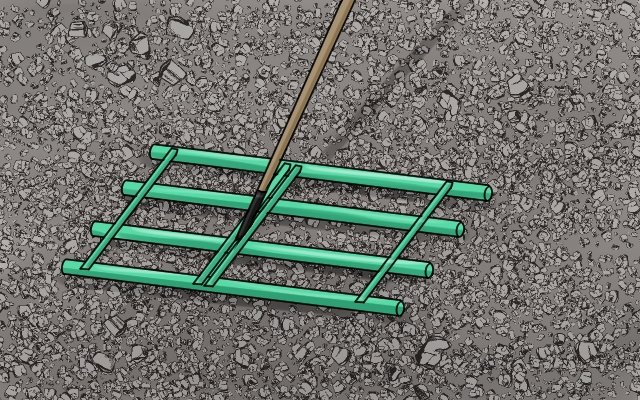 Gravel levelers can be used instead of rakes to level ground coverings