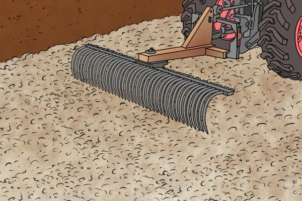 Mechanical rakes are used for leveling very large areas. For an average gardener they can use a rake for leveling ground, mulch, soil and other materials