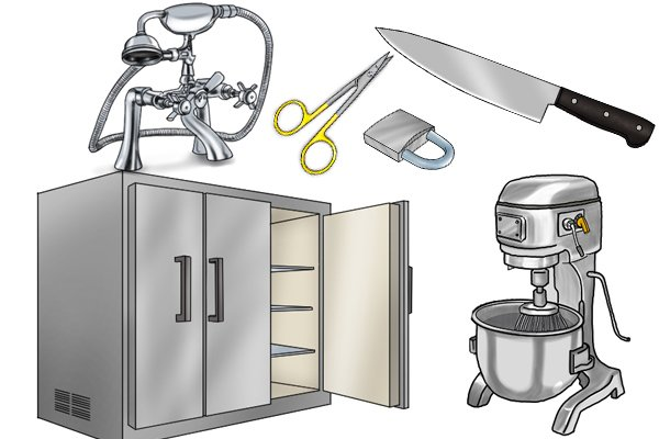 Stainless steel is used in many applications throughout the home.
