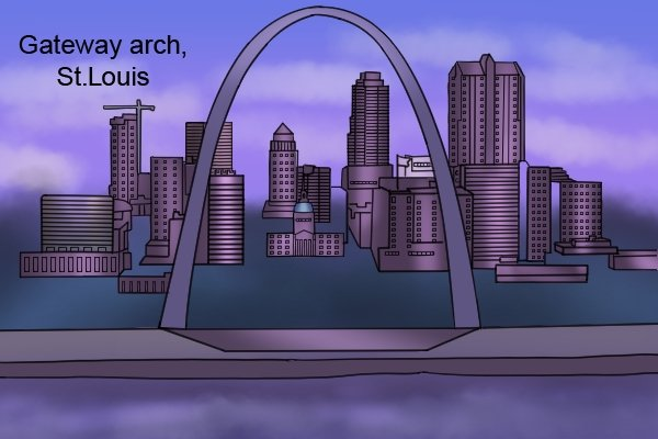 The gateway arch in St. Louis is made from stainless steels