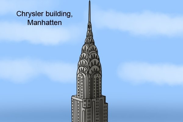 Many large building use stainless steel in their construction