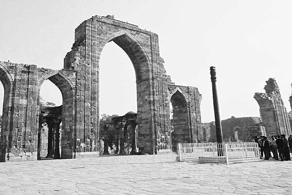 The iron pillar from Delhi is a famous iron pillar which has resisted rust for about 1,600 years