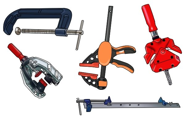 There are various types of clamp available