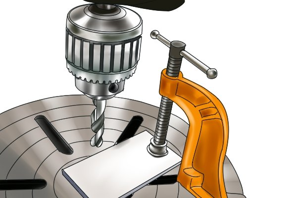 A clamp can be used for driling
