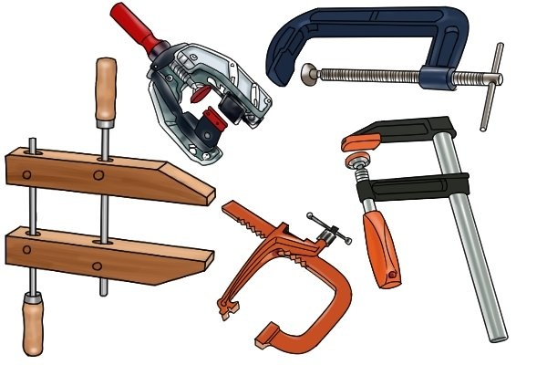 Screw clamps have the largest clamping force