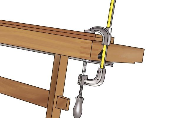 A clamp can grip an object as far as its opening will allow