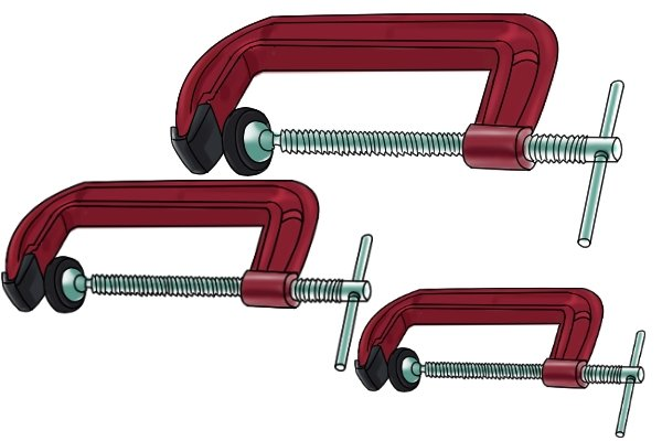 G clamps are available in various sizes