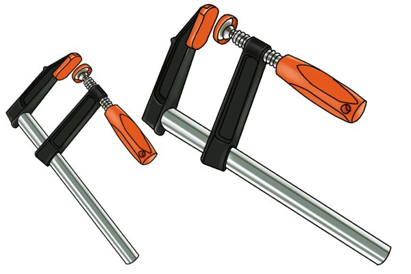 F clamps are available in different sizes