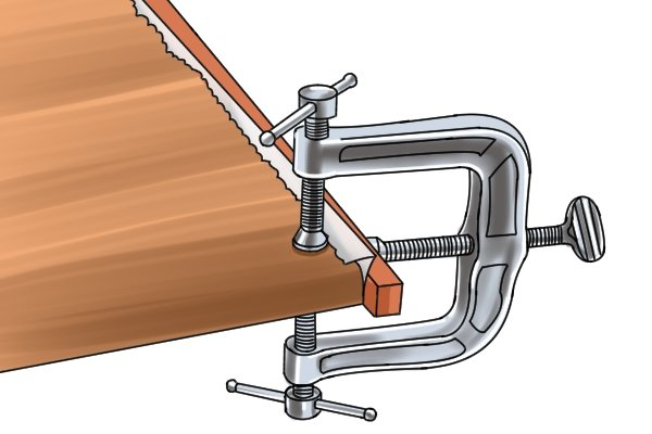 An edging clamp is available in various sizes