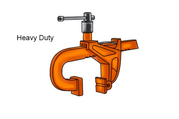 Heavy-duty rack clamp