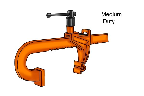 Medium-duty rack clamp