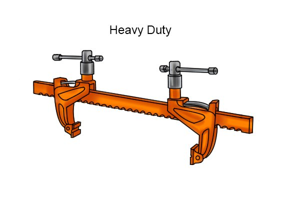 Heavy-duty bar rack clamp