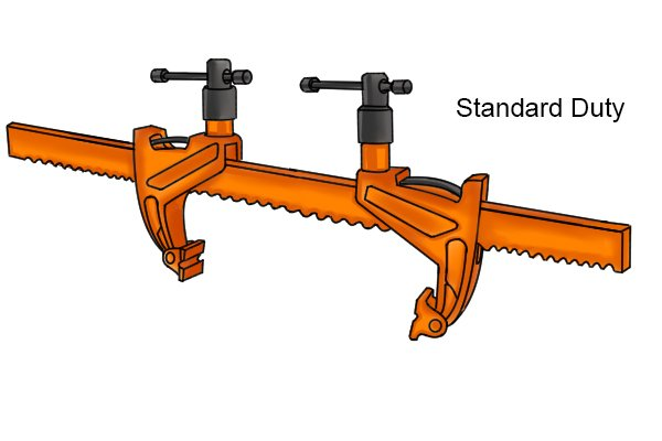Standard duty bar rack clamp