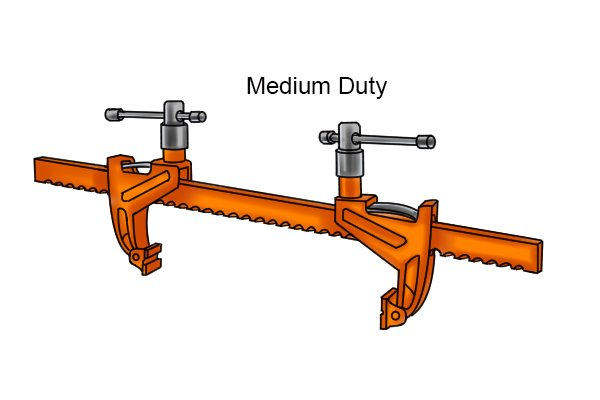 Medium-duty bar rack clamp