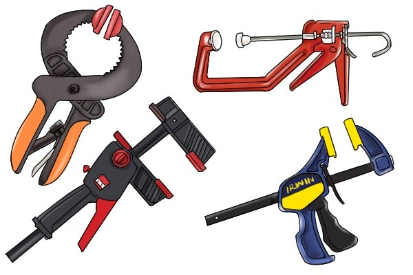 There are different types of quick-release clamps
