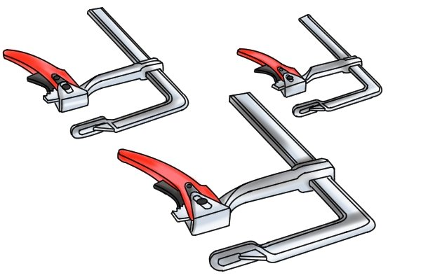 Wonkee Donkee's guide to sizes of lever clamp