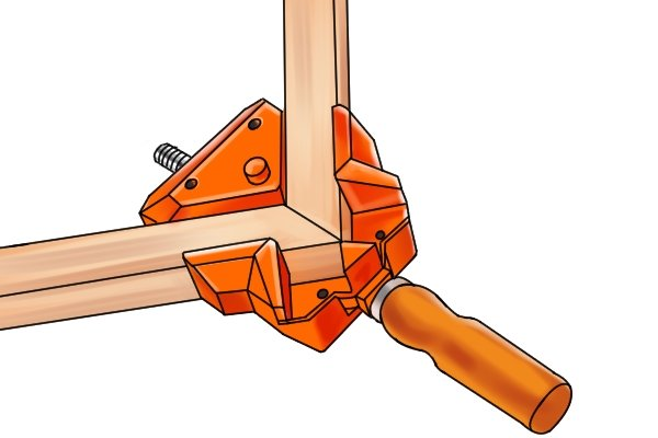 An angle clamp is ideal for making joints