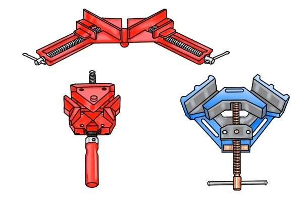 Different types of angle clamp available