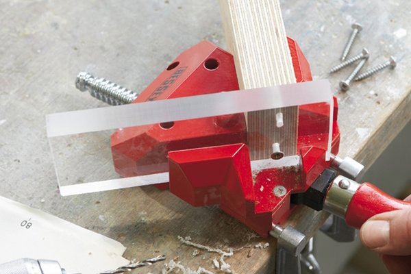 An angle clamp can be used to hold all types of materials