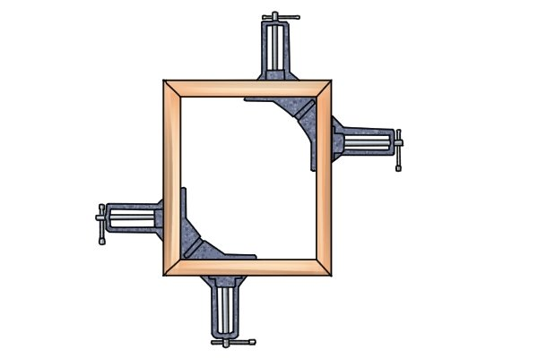 This type of angle clamp is ideal for picture framing