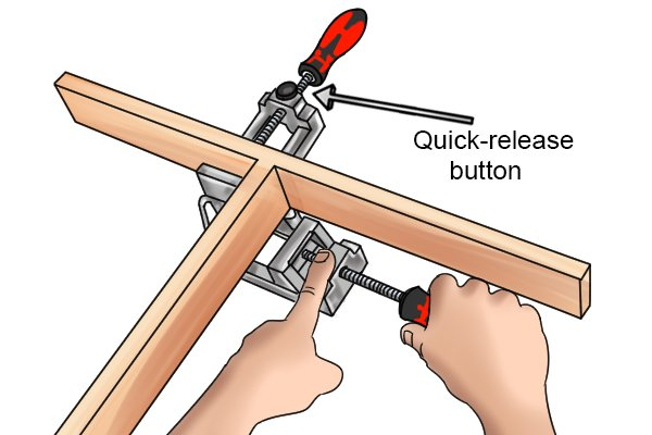 Some clamps have a quick-release mechanism