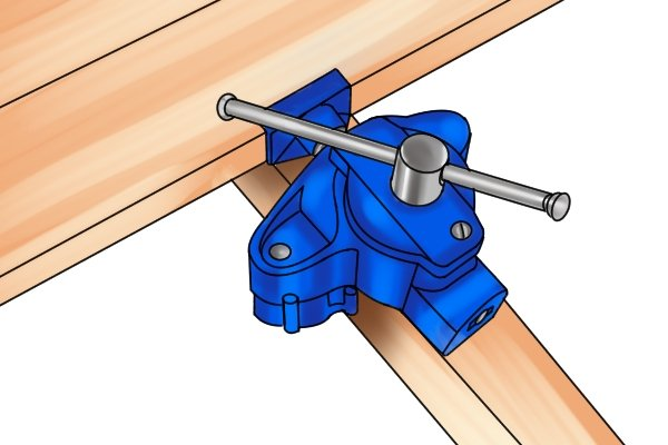 Clamp attaches to joist