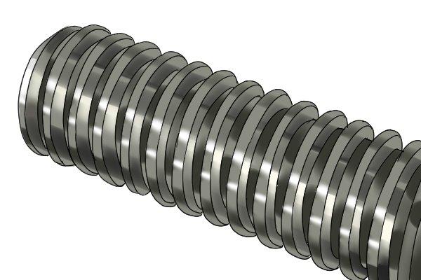 Threaded screw