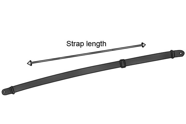 The length of the band clamp's strap